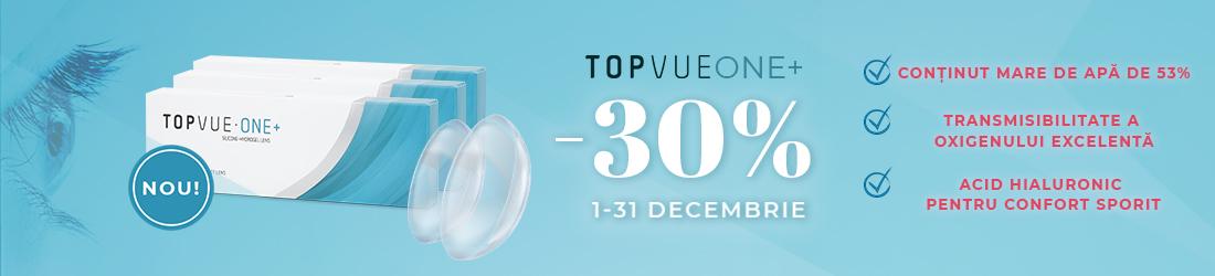 Lentilele zilnice TopVue ONE+, acum la un super discount pentru toată luna decembrie! Încearcă-le acum!