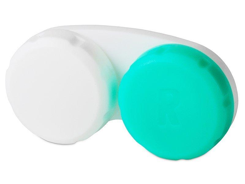 Suport pentru lentile verde&alb (cu litera R)