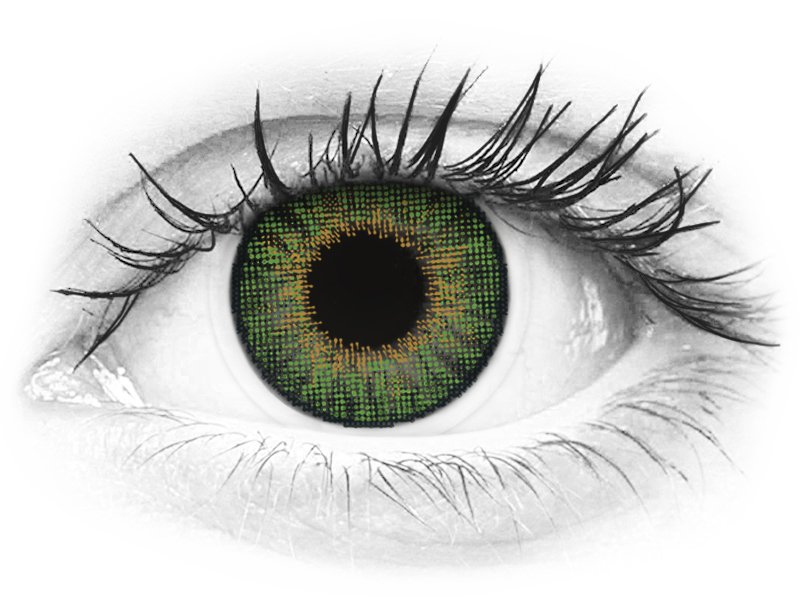 Air Optix Colors - Green - fără dioptrie (2lentile)