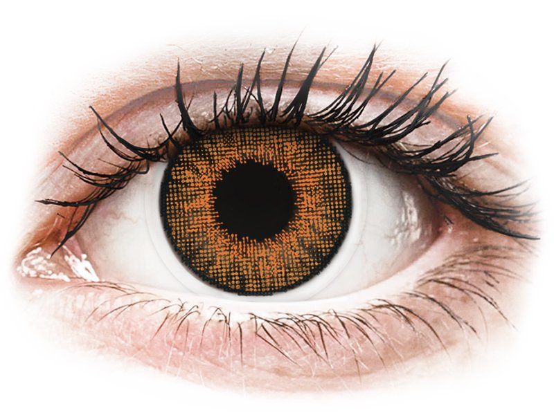 Air Optix Colors - Honey - fără dioptrie (2 lentile)
