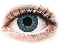 contact-lentile.ro - Lentile de contact - ColourVUE Crazy Lens - Solar Blue - fără dioptrie