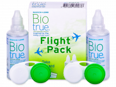 Soluție Biotrue 2 x 60 ml Flight Pack