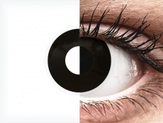 ColourVUE Crazy Lens - BlackOut - cu dioptrie (2 lentile)