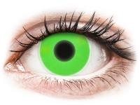 contact-lentile.ro - Lentile de contact - ColourVUE Crazy Glow Green - fără dioptrie