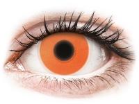 contact-lentile.ro - Lentile de contact - ColourVUE Crazy Glow Orange - fără dioptrie
