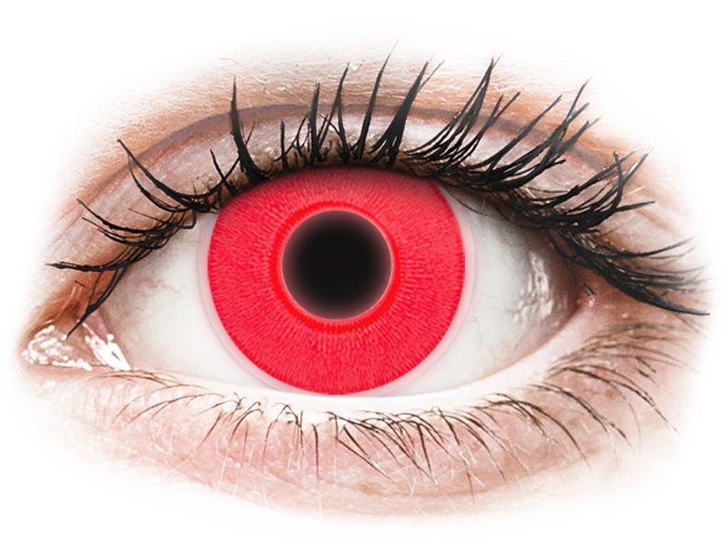 ColourVUE Crazy Glow Red - fără dioptrie (2lentile)