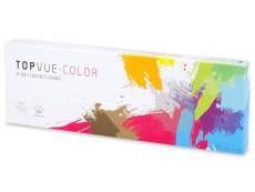 TopVue Color daily - Green - cu dioptrie (10lentile)