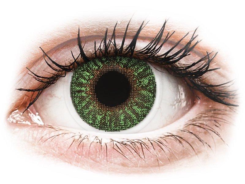 TopVue Color - Green - cu dioptrie (2 lentile)