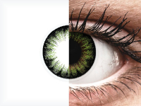 ColourVUE BigEyes Party Green - fără dioptrie (2lentile)