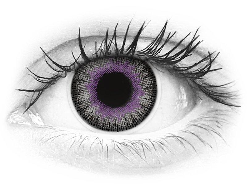 ColourVUE Fusion Violet Gray - fără dioptrie (2lentile)