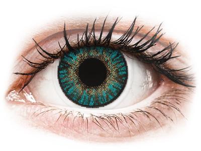 FreshLook ColorBlends Turquoise - fără dioptrie (2 lentile)