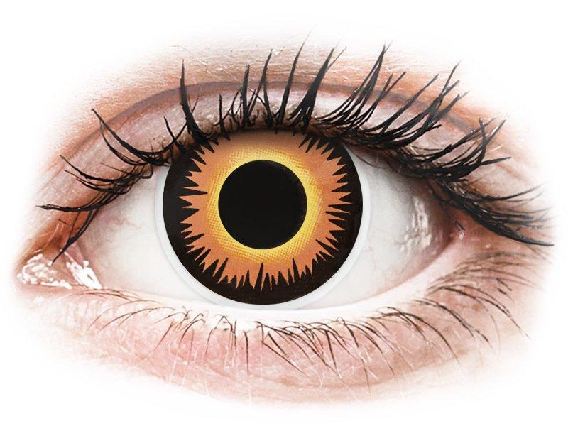 ColourVUE Crazy Lens - Orange Werewolf - lentile zilnice fără dioptrie (2 lentile)