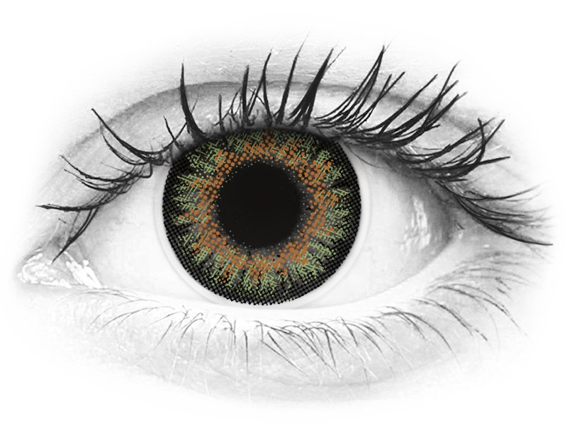 ColourVue One Day TruBlends Green - cu dioptrie (10 lentile)