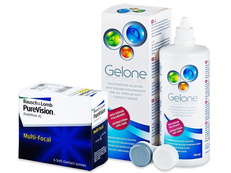PureVision Multi-Focal (6lentile) +soluțieGelone360ml