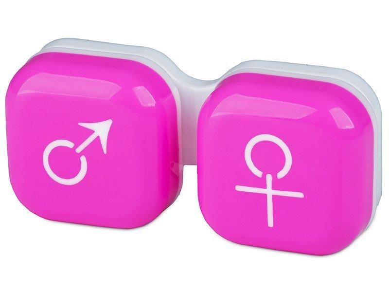 Suport pentru lentile man&woman - roz