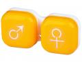 Accesorii lentile de contact - Suport pentru lentile man&woman -galben