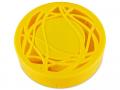 Set pentru lentile de contact - Casetă cu oglindă-  cu ornament,  galbenă