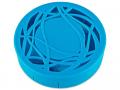 Set pentru lentile de contact - Casetă cu oglindă- cu ornament, albastră