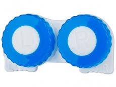 Suport pentru lentile - albastru&alb