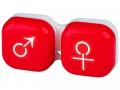 Accesorii lentile de contact - Suport pentru lentile man&woman - roșu