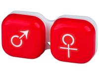 contact-lentile.ro - Lentile de contact - Suport pentru lentile man&woman - roșu