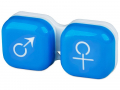 Accesorii lentile de contact - Suport pentru lentile man&woman -albastru