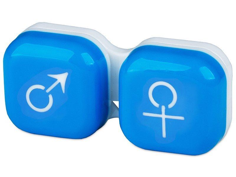 Suport pentru lentile man&woman -albastru