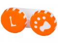 Accesorii lentile de contact - Suport pentru lentile Paw portocaliu