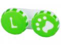 Accesorii lentile de contact - Suport pentru lentile Paw verde
