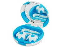 contact-lentile.ro - Lentile de contact - Casetă cu oglindă Football-albastră