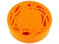 Accesorii lentile de contact - Casetă cu oglindă-  cu ornament, portocalie