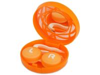 contact-lentile.ro - Lentile de contact - Casetă cu oglindă-  cu ornament, portocalie