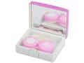 Accesorii lentile de contact - Casetă Elegant  - roz