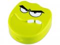 Accesorii lentile de contact - Casetă cu oglindă Smile - verde