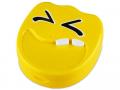 Accesorii lentile de contact - Casetă cu oglindă Smile - galbenă