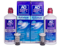 contact-lentile.ro - Lentile de contact - Soluție AO SEPT PLUS HydraGlyde 2x360 ml