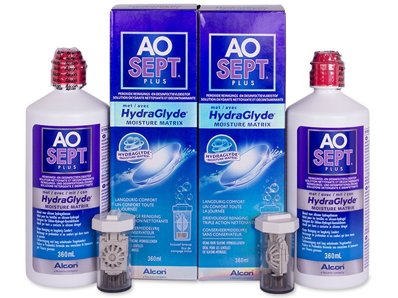 Soluție AO SEPT PLUS HydraGlyde 2x360 ml