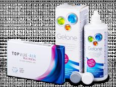 TopVue Air Multifocal (3 lentile) + Soluție Gelone 360 ml