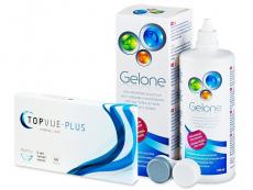 TopVue Monthly Plus (6 lentile) + Soluție Gelone 360 ml