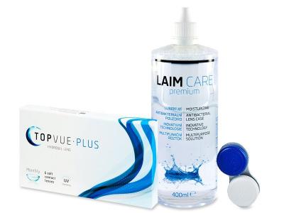 TopVue Monthly Plus  (6 lentile) + Soluție LAIM-CARE 400 ml