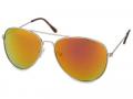Ochelari - Ochelari de soare Silver Aviator - Roz/Portocaliu