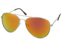 contact-lentile.ro - Lentile de contact - Ochelari de soare Silver Pilot - Roz/Portocaliu