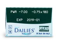 Focus Dailies Toric (30lentile)