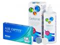 Pachet avantajos lentile + Gelone - Air Optix Aqua (6lentile) +soluțieGelone360ml