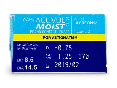 1 Day Acuvue Moist for Astigmatism (30lentile)